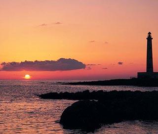 tramonto a punta sottile
