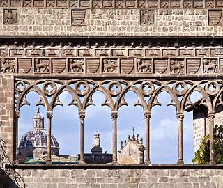 viterbo - loggia del palazzo dei papi