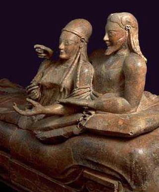 museo nazionale etrusco - sarcofago degli sposi